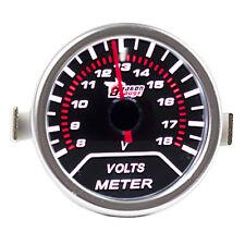 """12V Car Universal Pointer Smoke Tint Len 2"""" 52mm Volt Voltage Gauge Meter Dials"""