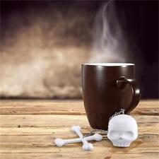 Creative Skull Tea Infuser Loose Tea Leaf Strainer Herbal Spice Filter Diffuser