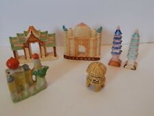 Lot of 6 Vintage Aquarium Decorations Pagoda Castle Japan Hanaki Zenith ETC