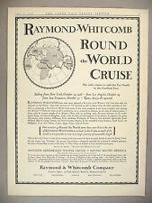Raymond-Whitcomb Round the World Cruise PRINT AD - 1926