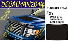 FORD F150 BLACKOUT VINYL HOOD DECAL 2009-2014
