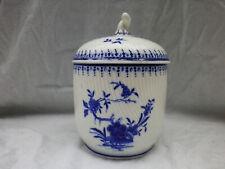 Porcelaine de Tournai RARE sucrier Ronda mille côtes XIXème