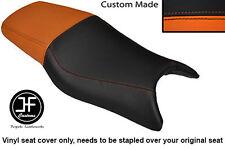 Vinilo Negro Naranja Y Personalizado Para Honda CBR 600 F 97-98 Doble Cubierta de asiento solamente
