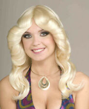 70's DISCO DOLL BLONDE WIG ADULT HALLOWEEN COSTUME ACCESSORY