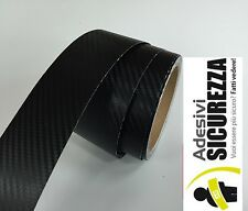 Black Carbon Fiber Vinyl stickers decal Tape 2 Inch x 10 feet(3 meters) bike car