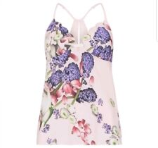 Ted Baker-Pink Floral 'Kensington' camisole vest / Pyjama top.UK 12