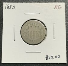 1883 U.S. SHIELD NICKEL ~ ABOUT GOOD CONDITION! $2.95 MAX SHIPPING! C2705