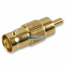 GOLD BNC FEMALE SOCKET TO RCA PHONO MALE PLUG CCTV VIDEO CAMERA CABLE ADAPTER