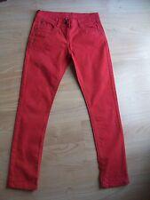 Denim pantalones talla 36.Rojos.