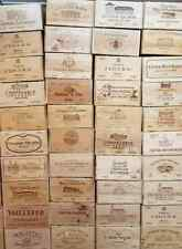 Wooden Wine Box Crate. 12 bottle. French Genuine Storage Drawer Planter Hamper