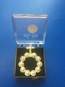 Finger Ring Rosary Decade Praying Revolving Pearl Glass Beads New