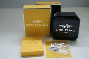 Breitling 1884 Watch Box Genuine Black Leather Bakelit Authentic Case Gift Set x
