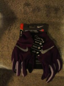 Nike Dri-Fit Tempo Running Gloves Touch Screen Small Purple Women's