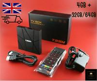 T95H UK 4GB+32/64GB Quad Core Android 10.0 TV Box Media Player 2021 H616 Wifi