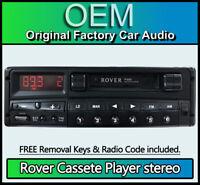 Rover R660 Tape Cassette player radio stereo + code Philips XQD101020 22DC34960B