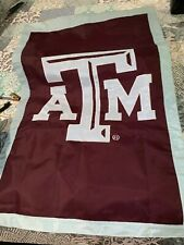 "Texas A&M Aggies Ncaa Banner Flag Nylon Embroidered 27.5 wide x 42"" long Mint!"