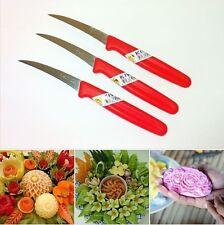 NEW 3 THAI CARVING KNIFE CRAFT TOOL CUT FOOD FRUIT VEGETABLE SOAP FOOD