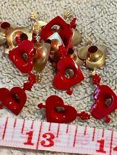 50 Aluminum Eyelets Valentine Hearts For Scrapbooks, Jewelry, Collage Art