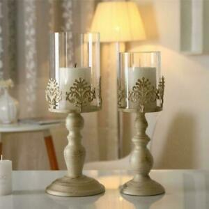 PILLAR CANDLE HOLDERS GLASS DOME HOLDER DECORATIVE CHRISTMAS BEST C2W7