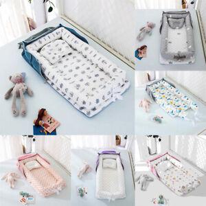 Portable Foldable Baby Nest Lounger Bed Crib Newborn Sleeper Bassinet w / Pillow