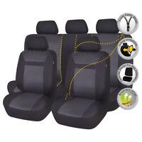 car seat covers set protectors Jacquard  bench split 40/60 50/50 60/40 black