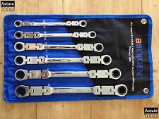 Twin Flex Double Ring Ratchet Spanner Set by Bergen 8-19mm 6 Piece