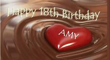 Personalised 18th Birthday Chocolate Bar Wrapper - Fits Galaxy, etc.