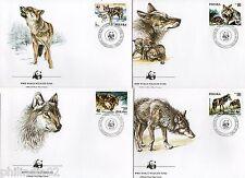 Poland 1985 Gray wolf Sc 2678-81 Wildlife Animal Mammal Fauna WWF FDCs # 117