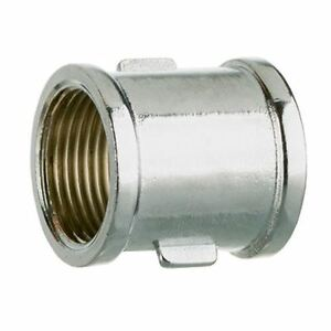 """1/2"""" 3/4"""" Inch Female Bsp Thread Pipe Connection Screwed Fittings Muff"""