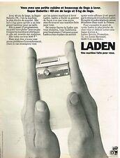Publicité Advertising 1974 La Machine à laver super Babette PS de Laden