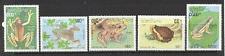 Laos 1993 Frogs/Toads/Amphibians/Animals/Nature/Wildlife 5v set (b8043)
