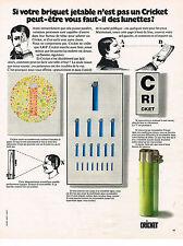 PUBLICITE ADVERTISING 034  1973  CRICKET  briquet 2