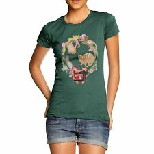 Twisted Envy Women's Sewing Cats T-Shirt