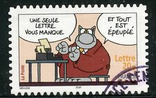 TIMBRE FRANCE  AUTOADHESIF OBLITERE N° 57 SOURIRES / LE CHAT / PHILIPPE GELUCK