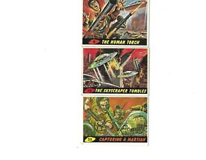 1962 Topps Mars Attacks - #9,#10, and #25