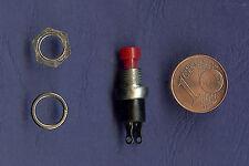 1 Stück Miniaturtaster Drucktaster Schließer rot für Modellbau geeignet