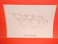 1967 CHEVROLET G10 G20 VAN PANEL CUSTOM DELUXE SPORTVAN FRAME DIMENSION CHART