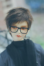 Black Coffee Color Fur Wig For BJD 1/6 1/4 1/3 Uncle Doll Wig HH107