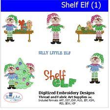 Machine Embroidery Designs -Shelf Elf(1) - 7  designs  - 9 Formats - Threadart