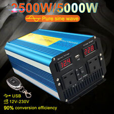 ONDA sinusoidale pura potenza inverter 2500W picco 5000W DC 12V A AC 230V telecomando