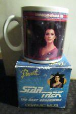1992 STAR TREK Next Generation Presents/Hamilton Ceramic Mug MIB Deanna Troi