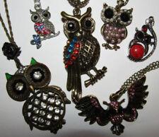 Brass Diamond (Imitation) Costume Necklaces & Pendants