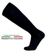 12 paia di calze lungo in caldo cotone elasticizzate, confortevoli Made in Italy