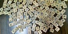 •Scrabble Tiles 318pc Pieces Parts Scrapbooking Crafts Letters Jewelry Wood