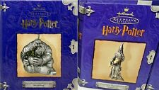 2 Hallmark Harry Potter Pewter  Ornaments DUMBLEDORE & Hagrid