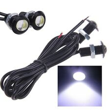 2x 9W LED Eagle Eye Backup Light Foglight White Light Car Trucks Black cover