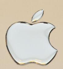 1 x 3D bombata specchio color argento apple logo decal / Adesivo accessory.size