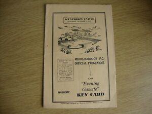 1959/60 Middlesbrough v Scunthorpe United - League Division 2