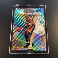 SHAQUILLE O'NEAL SHAQ 1997 STADIUM CLUB #H8 HARDCOURT HEROICS HOLOFOIL CARD NBA