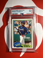 2018 TOPPS ARCHIVES RC RONALD ACUNA JR ROOKIE #212 PSA 9 MINT ATLANTA BRAVES